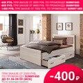 Кровать Парма с ящиками (Ясень шимо светлый/Ясень шимо темный, ЛДСП, ясень шимо светлый, 1400х2000 мм) МФ Олимп