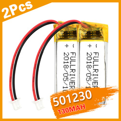 2PCS 502025 3.7v lithium ion battery 200 mah Li polymer battery for portable MP3 MP4 GPS remote controllers