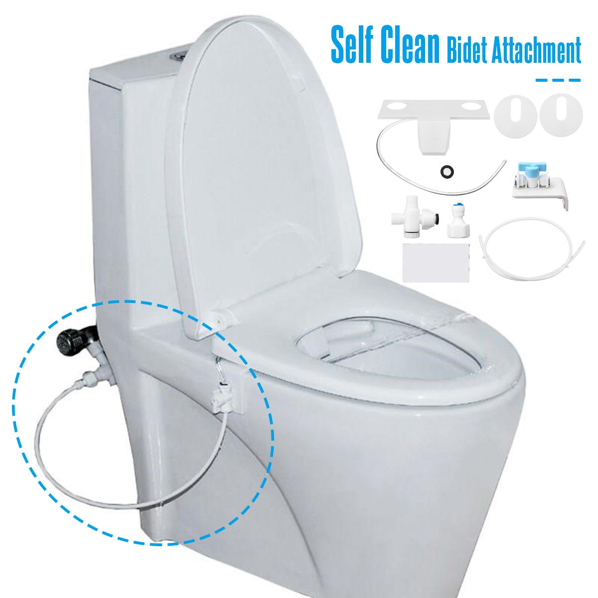 Portable Bidet Attachment Toilet Seat Self-Cleaning Nozzle-Fresh Water Bidet Sprayer Mechanical Wash Flushing Sanitary Device