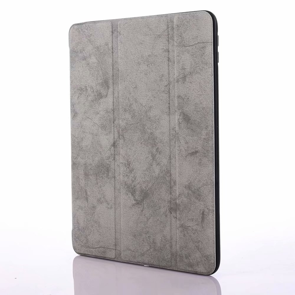 for iPad 12.9 Grey Green For iPad Pro 12 9 2020 Case Pencil Holder Smart Trifold Case Cover Auto Sleep Wake