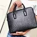 ouruili men handbag ostrich leather business document computer bag ostrich leather hand carrying the cross - section men bag
