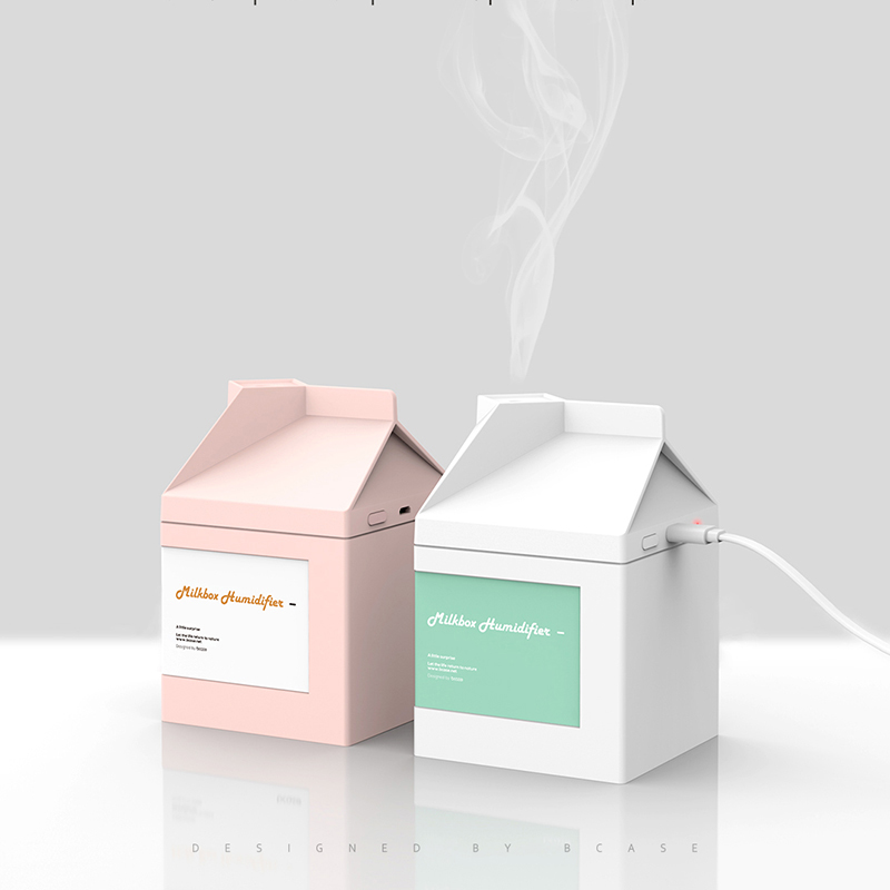 Mini USB Humidifier Protable Milk Box Humidifier Rechargeable Two Use Humidifier|  - title=