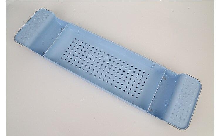 Выдвижной Пластиковая Полка для ванной комнаты Ванна Полка для ванной сушилка поднос для ванной кухонный Органайзер хранилище аксессуары