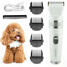 цена на Pet Dog Cat Grooming Hair Trimmer Groomer Shaver Razor Quiet Electric Clipper Speed Electric Rechargeable Pet Supplies Haircut