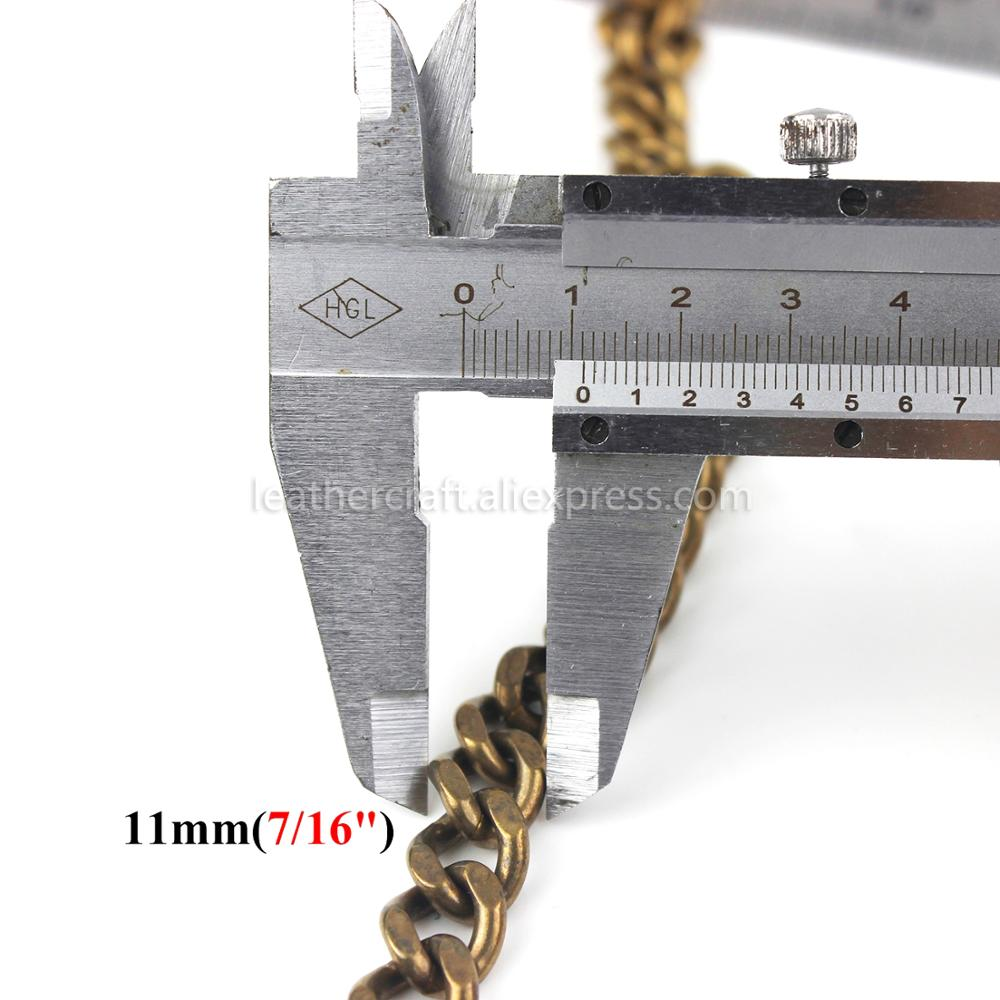 1 x Solid Brass Belt Hook Keychain Fob Clip Wallet Waist Chain With Lobster Snap Hook 19 3 quot 49cm in Buckles amp Hooks from Home amp Garden