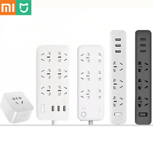 New Xiaomi mijia mi WIFI Socket Plug Household Extension Cable Power Board 3/5/6/8 Hole USB Fast Charging 2500W 10A 250V