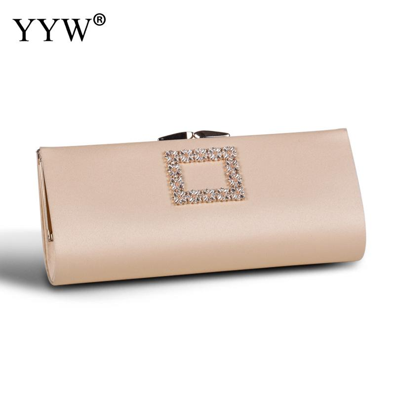 Blue Long Envelope Clutch Bag For Women Clutch Purses Evening Bag Rhinestone Sparkling Shoulder Party Crossbody Cocktail Handbag