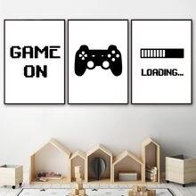 Настенный постер для игр игровая Картина на холсте с цитатой