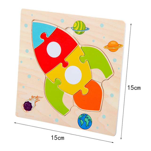 Baby Toys Wooden 3d Puzzle Tangram Shapes Learning Cartoon Animal Intelligence Jigsaw Puzzle Toys For Children Educational 5