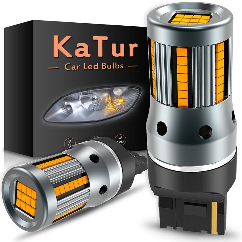 2Pcs No Error Hyper Flash Turn Signal Lamp T20 7440 W21W LED Bulb 1156 BA15S P21W Canbus Car Lights Amber Yellow 12VSignal Lamp   -