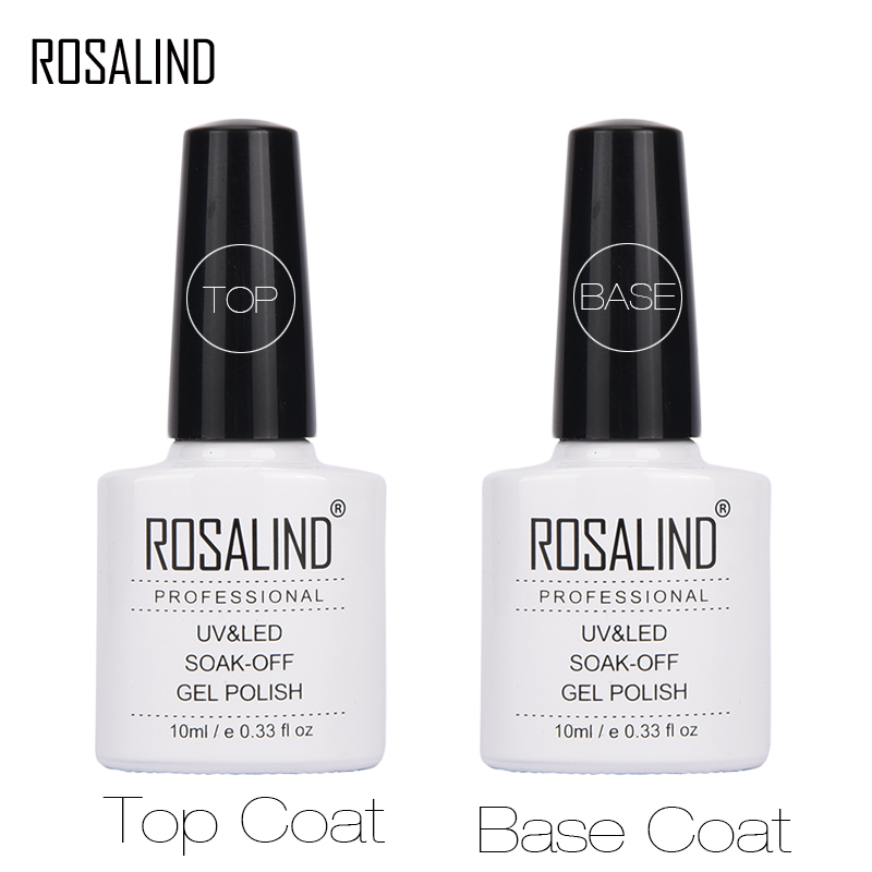 Розалинд 10 мл Гель-лак для верхнего и базового покрытия ногтей лак для ногтей УФ-светодиодный Гелевый лак для нейл-арта праймер для ногтей! П...