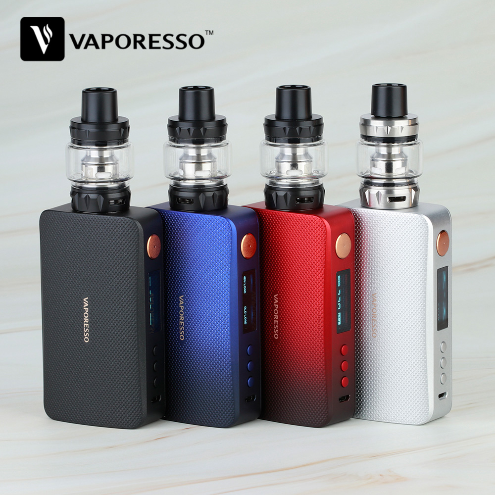 Original 220W Vaporesso GEN TC Kit With 8ml SKRR-S Tank & Vaporesso GEN Mod Power By 18650 Battery Box Vape Vs Swag 2/ Luxe Kit