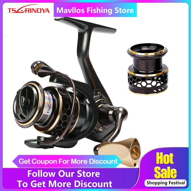 Carp Saltwater Fishing Reel Spinning Metal Handle 2 Spool Reels Coil