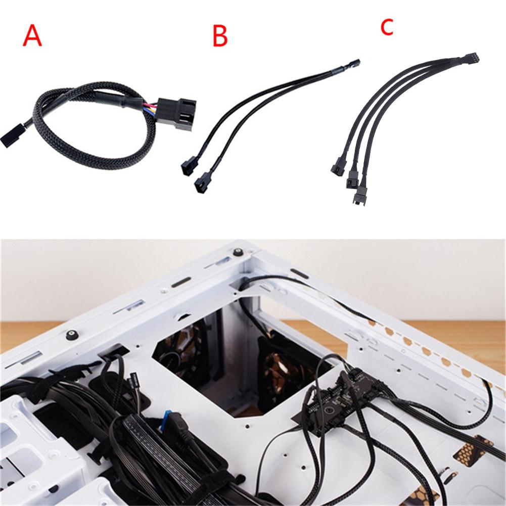 Mainboard CPU 4 PIN Fan Extention Cables PWM 4P Adapter Cable Computer Case Mainboard 4 PIN Power Cables & Connectors