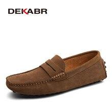 Dekabr grande tamanho 50 mocassins masculinos mocassins macios de alta qualidade primavera outono sapatos de couro genuíno homens apartamentos quentes sapatos de condução