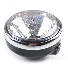 Motorcycle Round Chrome Halogen Headlight Lamp For Honda CB250 Hornet250 CB400 VTEC CB500 CB600 Hornet600 VTR250 NEW dot sae e9 approved 7inch round headlight with halo ring for honda cb500 cb1300 hornet250