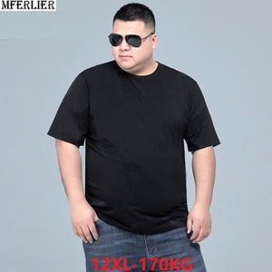 summer men t-shirt short sleeve plus size big sales tees cotton 6XL 7XL 8XL 10XL 12XL black oversize tshirt tops 60 62 64 66 68(China)
