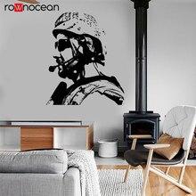 Modern War Theme US Soldier Marine Seal Military Wall Sticker Vinyl Home Decor Design Decals Murals Boys Room Poster 3636