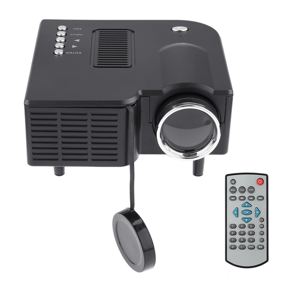 UC28 Mini projector HD Home 1080P Portable Home Theater Wired LED Projector LCD Display Technology for Conference System