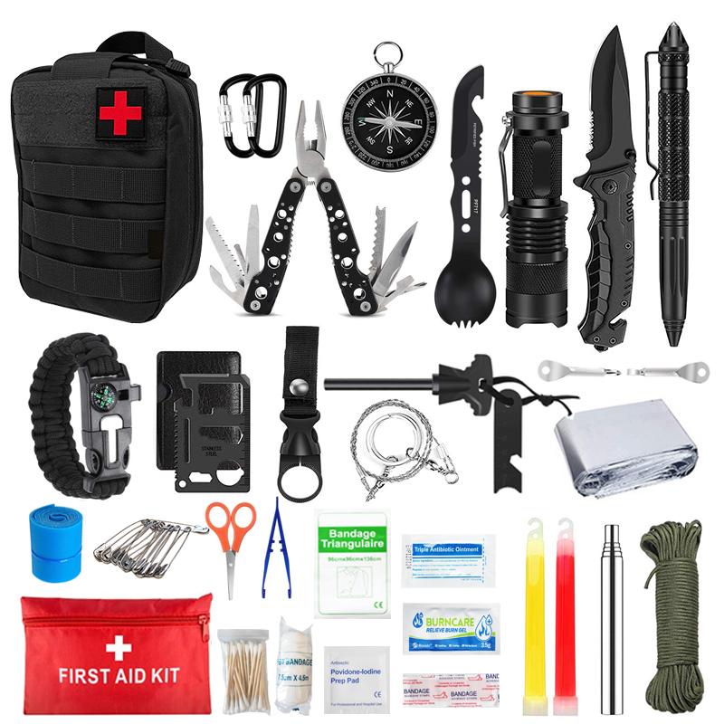 Akcesoria kempingowe zestaw pierwszej pomocy na zewnątrz do uprawiania turystyki pieszej