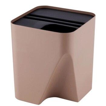 1 Uds de basura de plástico pila Papelera de reciclaje sistema de separación de residuos recipientes apilables de basura para la cocina cuarto de baño SALA DE