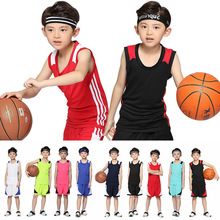 Youth basketball uniform suit boys summer pupils jerseys uniforms custom kindergarten girls training suits
