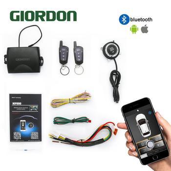 SmartPhone Control PKE Car Alarm System Kit Smart Passive Auto Central Locking Car Door Keyless Push Remote Button MP900A