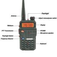 מכשיר הקשר 2pcs Baofeng UV-5RT מכשיר הקשר Dual Band UHF VHF רדיו FM תדר רדיו Ham Hf משדר Baofeng טוקי רדיו comunicador (2)