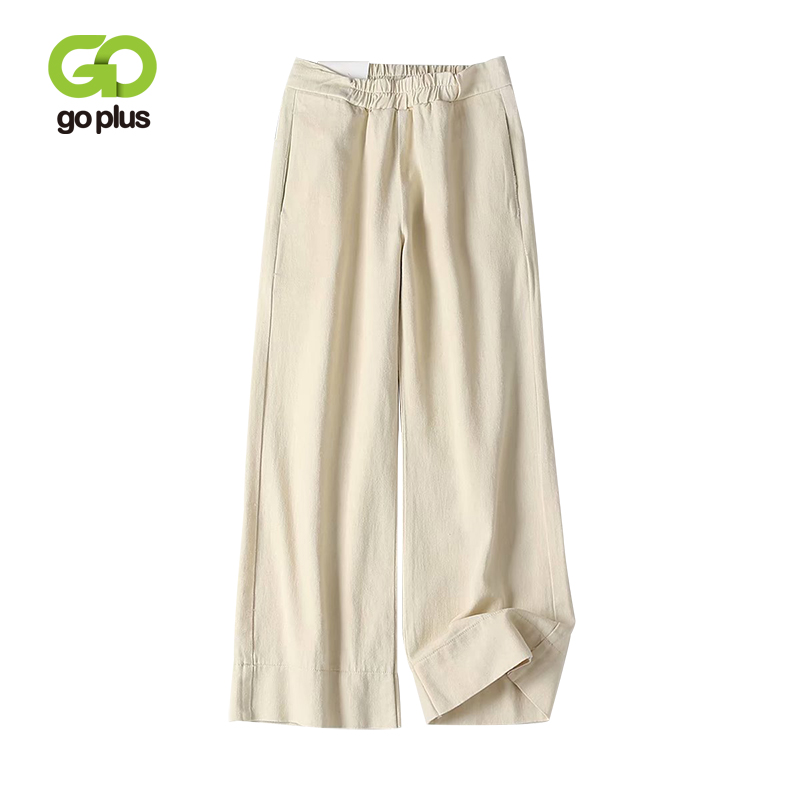 GOPLUS Wide Leg Jeans Lady Loose Casual High Waist Pants 2020 Spring Retro Black White Trousers Women Ankle-Length Jeans C7426