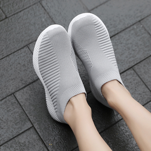 Image 4 - Moipheng 2020 Women Sneakers Vulcanized Shoes Sock Sneakers Women Summer Slip On Flat Shoes Women Plus Size Loafers Walking Flat