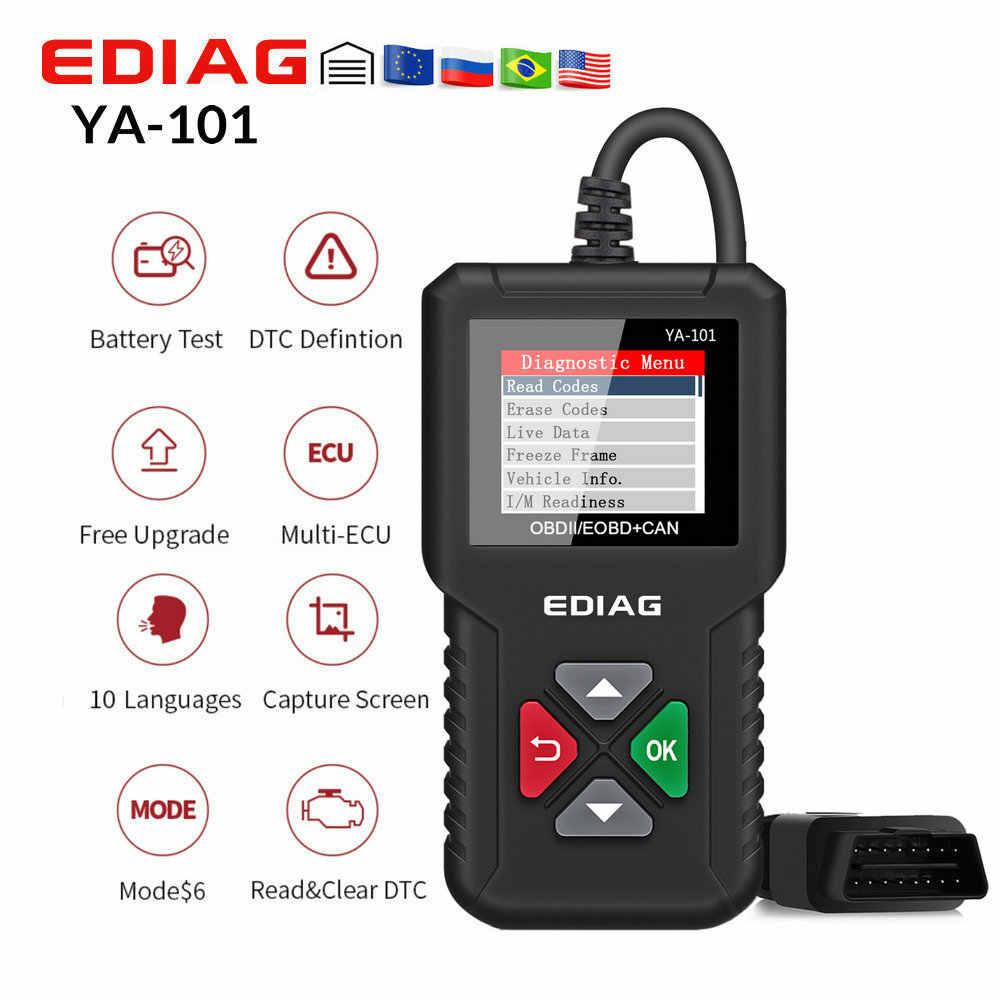 Orijinal EDIAG YA101 kod okuyucu OBDII/EOBD YA-101 yükseltme USB ömür boyu gelişmiş OBDII tarayıcı PK CR3001 CR319 AD310