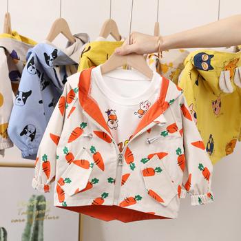 Dzieci cienki płaszcz wiosna jesień kurtki dla chłopców dziewcząt z kapturem ciepłe kurtki wiatrówka ubrania dla dzieci płaszcz dla dzieci odzież dla chłopców tanie i dobre opinie ALIJUTOU Na co dzień COTTON Drukuj REGULAR Kurtki płaszcze Pełna Pasuje prawda na wymiar weź swój normalny rozmiar