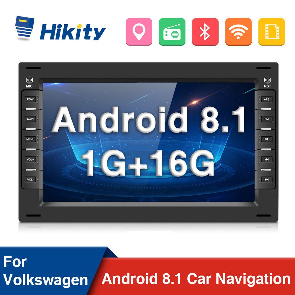 "Hikity Android 8.1 Car Multimedia Player 2 Din Car Radio 7 "" Canbus Auto Radio GPS Wifi Radio Car For VW Skoda/Passat/Golf/Polo