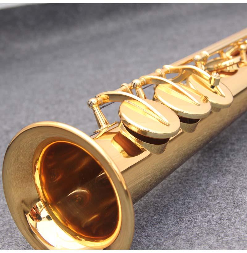 JM Сделано в Японии YSS 82Z Латунь Прямой сопрано саксофон Bb B плоский духовой инструмент натуральный корпус ключ вырезанный узор - 2