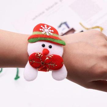 1 Pcs Christmas LED Light Patted Circle Bracelet Gifts Elk Children's New Snap Snowman Year Santa Ring Party Toys Wrist F0R7 image