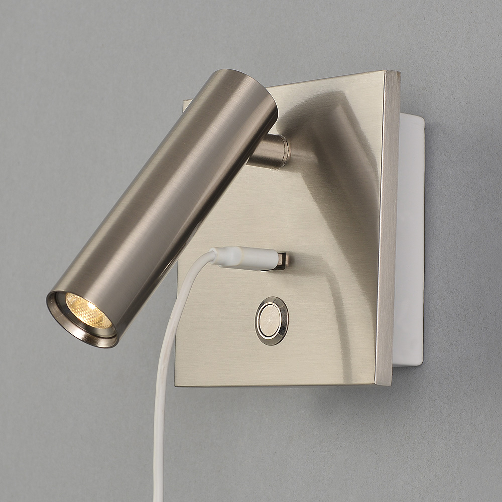 Zerouno aluminum wall lights bedroom headboard wall sconces with push switch dc 5v 2a usb charging port ressessed install