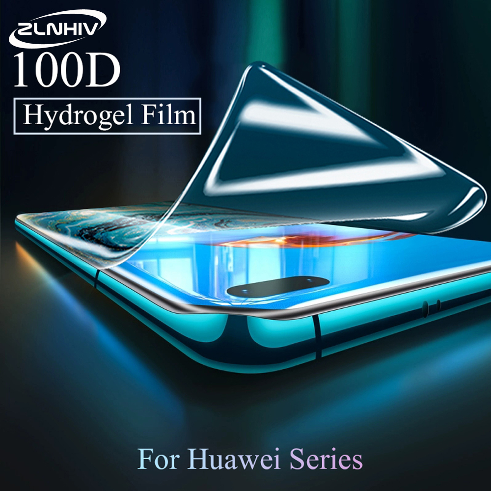 ZLNHIV soft full cover hydrogel film for <font><b>huawei</b></font> P20 <font><b>P30</b></font> <font><b>pro</b></font> P40 lite E <font><b>pro</b></font> plus phone screen <font><b>protector</b></font> protective film Not <font><b>Glass</b></font> image