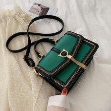 Fashion Pathwork PU Leather Handbags Designer Women Messenger Shoulder Bags Gold Tassel Buckle purse Ladies Small Crossbody