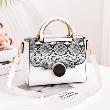 Snakeskin Solid Color Versatile Shoulder Bag Fashion Elegant Large-capacity Handbag 2019 New Womens Messenger