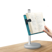 Desktop Vertical Book Stand Multifunctional Portable Reading Bookshelf Retractable One handed Books for Adult Students Children