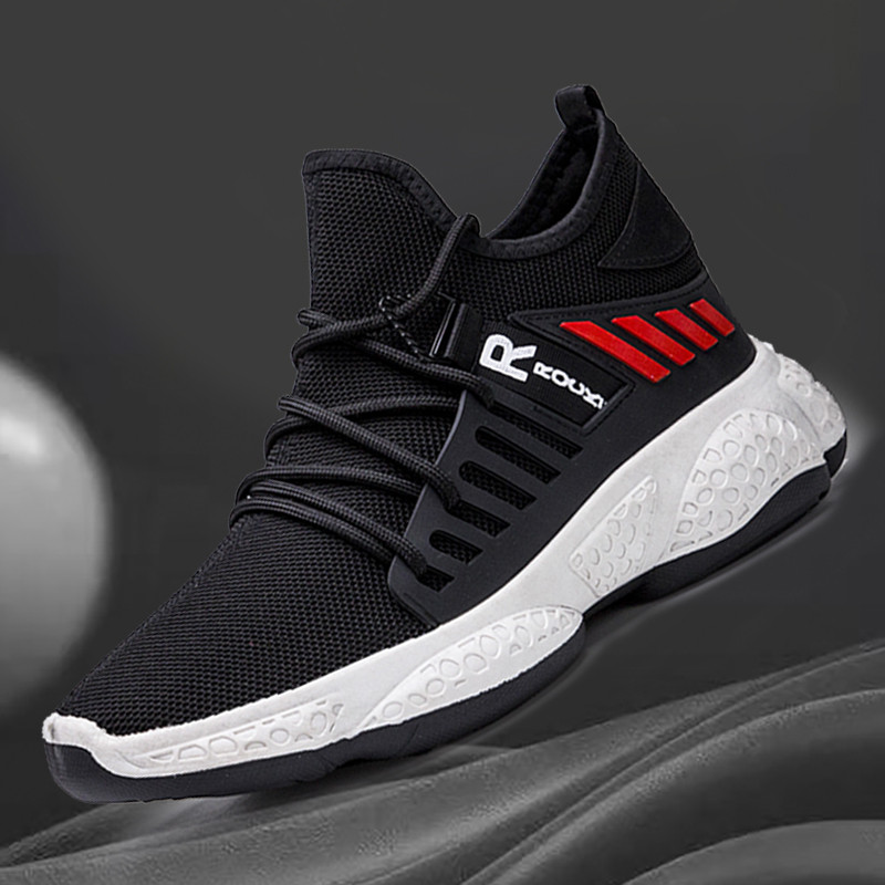 Men Sneakers In Men's Casual Shoes Flyknit Sneakers Fashion Spring Shoes Stylish Lace Up Flats Chaussure Breath 2020 New Arrival