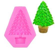 Christmas tree shape fondant silicone mold cake chocolate dry pais decoration DIY baking
