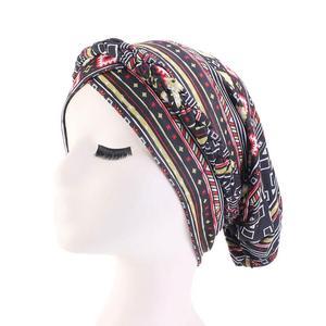 Image 5 - Gorro para la cabeza con estampado étnico para mujer, gorro para quimio con estampado étnico, musulmán, Trenza para la cabeza, turbante, para la cabeza, para la caída del cabello, moda árabe