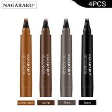 Nagaraku 4 шт карандаш для бровей водонепроницаемый 3d стереоскопический