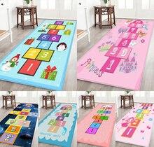 Hopscotch Floor Mats, Cartoon Carpets, Children's Room Carpets, Bedroom Digital Carpets, Bedside Blankets, Super Soft Carpets