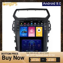 """Syetem reproductor de DVD con Android 9,0, dispositivo de navegación GPS para coche 4G + 64G para Explorer 2003 2012, Tesla, pantalla Vertical de 2011 """", PX 6, Unidad de 2019x12,1"""
