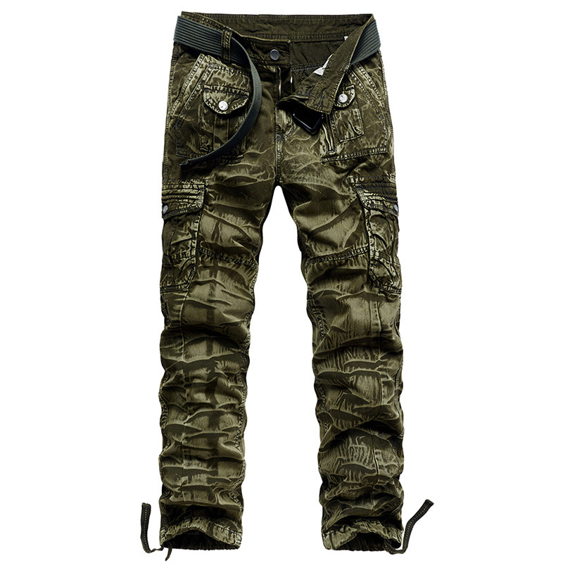 Mens Cargo Pants Military Camo Tactical Trousers Straight Overalls Large Size Pantalones Army Sweatpants Climbing Pant