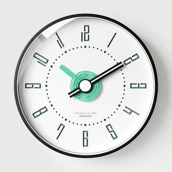 Silent Nordic Wall Clock Home Living Room Personality Round Quartz Wall Clock Creative Kitchen Wand Klok Decor Clocks MM60WC