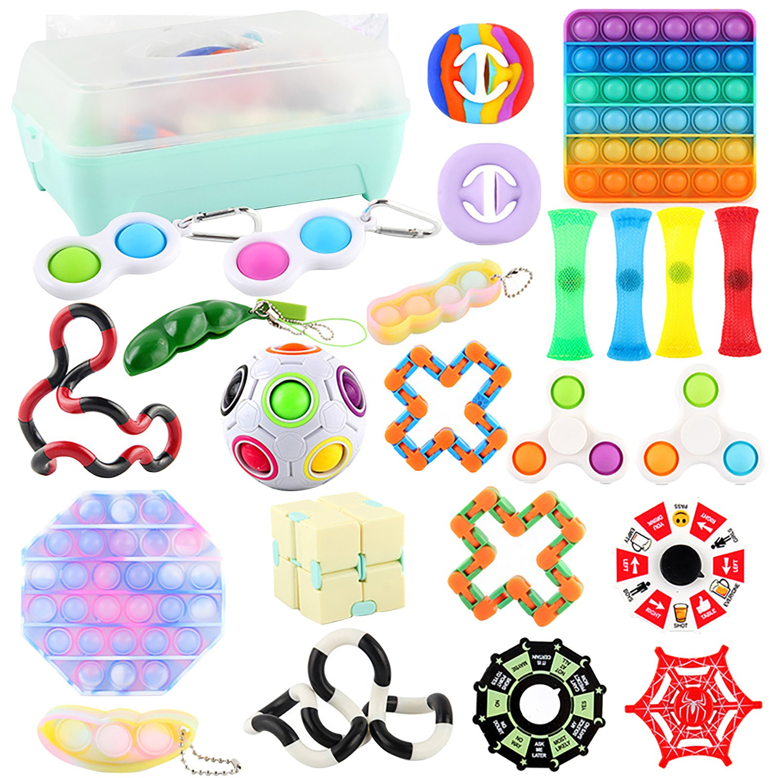 A Pack Fidget Sensory Toy Set Stress Relief Toys Autism Anxiety Relief Stress fidjets
