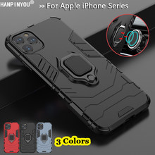 For iPhone 11 Pro Xs Max X XR 6S 7 8 Plus 5S SE Hybrid Hard PC+Soft TPU Armor Anti-Drop Case Rotating Ring Stand Holder Cover(China)